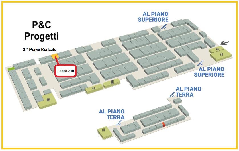 CD Automation verrà ospitata da P&C Progetti presso lo STAND 20B al 2° Piano Rialzato